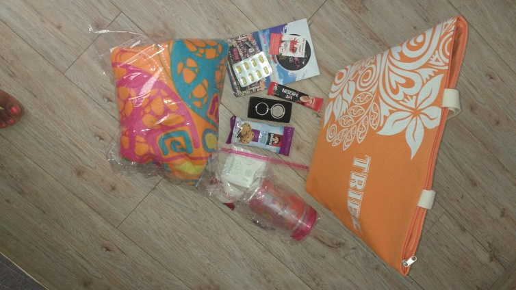 Tribe goodie bag and contents
