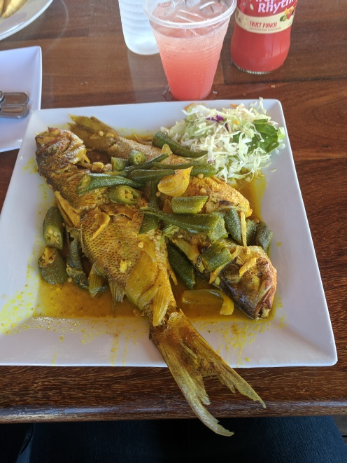 curried fish from Glorias